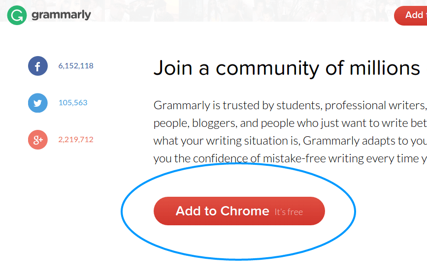 Adding Grammarly to Chrome